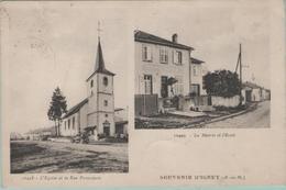 CPA:  Souvenir D' IGNEY   (Dpt.54):    L'église Et La Rue Principal - La Mairie Et L' école En 1934.   (E1920) - Autres Communes