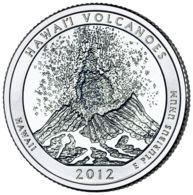 USA. 25 Cents. Quarter. 14th Park. Hawaiian Volcanoes. UNC. 2012 D - Federal Issues