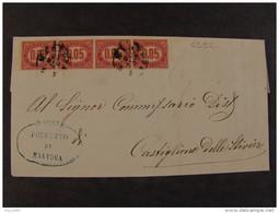 """4532 ITALIA Regno-1875- """"Servizio Di Stato"""" C. 0,05 MANTOVA>CASTIGLIONE Delle STIVIERE (descrizione) - 1861-78 Vittorio Emanuele II"""