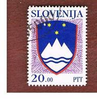 SLOVENIA  -   SG 148   -  1992  NATIONAL ARMS 20 -   USED - Slovenia