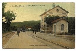 Sainte-Maxime (83) La Gare (en Colorisé) - Carte Rare - Sainte-Maxime