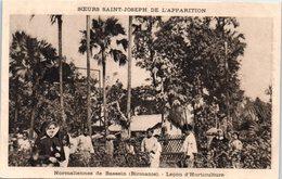 ASIE --  Birmanie - MYANMAR - Normalienne De Bassein - Leçon D'Horticulture - Myanmar (Burma)