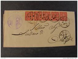 """4514 ITALIA Regno-1866- """"T 15 Torino"""" C. 2 MODENA>OSTIGLIA (descrizione) - 1861-78 Vittorio Emanuele II"""