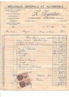 1930   FACTURE H. PEGUILLET MECANIQUE GENERALE à VEYRE_MONTON PUY DE DOME - 1900 – 1949