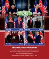 Tuvalu 2018  US-DPR Korea Summit Singapore Trump And Kim Jong-un I201901 - Tuvalu