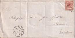 DANEMARK  LETTRE DE COPENHAGUE - 1864-04 (Christian IX)