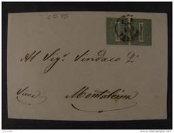 """4595 ITALIA Regno-""""L 14 Londra"""" C. 1 Coppia MODENA>MONTALCINO (descrizione) - 1861-78 Vittorio Emanuele II"""