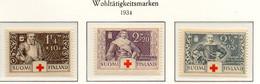 PIA - FINLANDIA  - 1934 : Pro Croce Rossa - Eroi Finnici   - (Yv 176-79) - Primo Soccorso