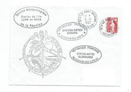 16959 - BATRAL LA GRANDIERE - TOURNEES DES ÎLES EPARSES 1992 ( CACHETS DES STATIONS EUROPA ET JUAN DE NOVA Et GLORIEUSES - Postmark Collection (Covers)