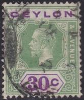Ceylon    .   SG  .     352         .       O     .   Cancelled        .   /    .  Gebruikt - Ceylon (...-1947)