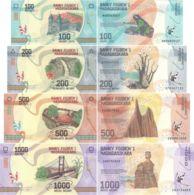 Madagascar. A Set Of Banknotes. 100, 200, 500, 1000 Ariary. UNC. 2017 - Madagascar