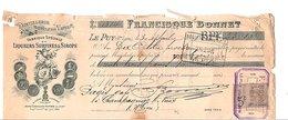 1898 TRAITE FRANCISQUE BONNET DISTILLERIE Au PUY EN VELAY HAUTE LOIRE - France
