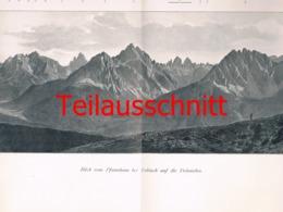 105-2 Panorama Dolomiten Alpenverein Beilage Zeitschrift 1901 !!! - Non Classificati