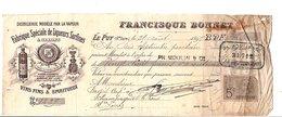 1897 TRAITE FRANCISQUE BONNET DISTILLERIE Au PUY EN VELAY HAUTE LOIRE - France