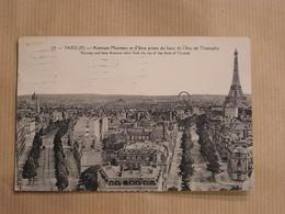 PARIS Avenue Marceau D' Iéna Prise De L'Arc De Triomphe Tour Eiffel CPA Carte Postale France - Tour Eiffel