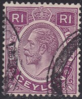 Ceylon    .   SG  .     363      .       O     .   Cancelled        .   /    .  Gebruikt - Ceylon (...-1947)
