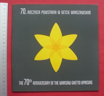 Poland 2013 - Mint Sheet Of 6 Stamps And FDC In Folder - Warsaw Ghetto Uprising, Judaica --- Pologne Polen --- 65 Ju - Judaisme