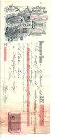 1897 TRAITE FRANC-DURIEU DISTILLERIE à MONISTROL  SUR LOIRE HAUTE LOIRE - France
