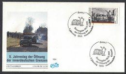 IN23  Germany 1994 Mi. 1769 FDC Bonn, 5 Year Öffnung Der Innerdeutschen Grenzen, Trabbi Trabant Car - Automobili