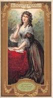¤¤   -  Carte Publicitaire Gauffrée  -  BISCUITS PERNOT  -  Madame ROLAND  -  Voir Description     -   ¤¤ - Publicité