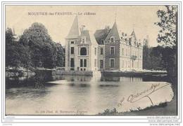 MOUSTIER - LEZ - FRASNES ..-- Château . 1908 Vers LAEKEN ( Mr Emile DEVROEY ) . Voir Verso . - Frasnes-lez-Anvaing