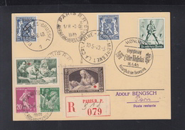 Carte Postale Paris 1940 Cachet Allemand Et Belge - Marcophilie (Lettres)