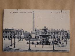 PARIS Place De La Concorde Animée Carte Postale France - Notre Dame De Paris