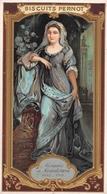 ¤¤   -  Carte Publicitaire Gauffrée  -  BISCUITS PERNOT  -  Marquise De MAINTENON  -  Voir Description     -   ¤¤ - Publicité