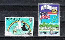 Tuvalu   -  1986. Corpo Di Pace U.S.A.  Bandiere E Colomba. Peace Corps U.S.A. Flags And Dove.  MNH - Francobolli
