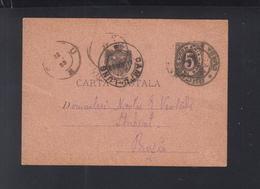 Romania Stationery 1893 Campu-Lung To Buzau - 1881-1918: Charles I