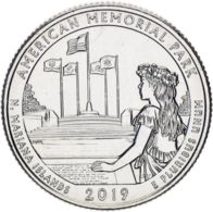 "USA 25 Cents (a Quarter) 2019 D ""47th Park - Memorial Park"" UNC - Federal Issues"