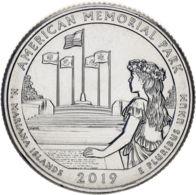 "USA 25 Cents (a Quarter) 2019 P ""47th Park - Memorial Park"" UNC - Emissioni Federali"