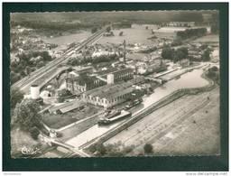 Sermaize Les Bains (51) Vue Aérienne - Le Canal Et La Sucrerie ( Usine  Raffinerie Sucre SAY Péniche  Chemin De Fer  CIM - Sermaize-les-Bains