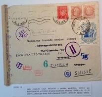 France 1943 Pétain Vichy Lettre/lettera Censure Réexpédition Regno D' Italia GALILEO GALILEI > Roma Censura > Schweiz - Storia Postale