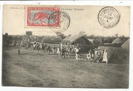 MOYEN CONGO 10C AU RECTO CARTE FORT LAMY TCHAD OBL FORT ARCHAMBAULT 3 JANV 1914 - Lettres & Documents