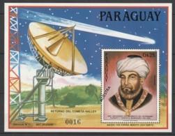 PARAGUAY - Bloc N°424 ** (1985) ESPACE / Comète De Halley / Astronome Maimonides - MUESTRA - Raumfahrt