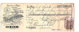1897  TRAITE GIBELIN & L. RUBOD DISTILLERIE à LE PUY EN VELAY HAUTE LOIRE - France