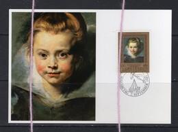19/5 Liechtenstein Carte Maximum Card Portrait De Clara Serena Rubens - Kinderen