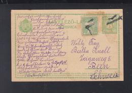 Hungary Stationery Uprated 1915 To Switzerland - Ungheria