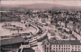 Romanshorn, Port Et Gare, Chemin De Fer, Train Et Bâteaux à Vapeur (31.8.49) - TG Thurgovie