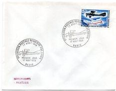 AVION = PARIS 1968 = CACHET PREMIER JOUR  Illustré FDC + N° 1565 = PREMIERE LIAISON POSTALE - FDC