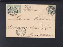 Niederlande Präge-Karte 1898 - Period 1891-1948 (Wilhelmina)