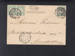 Niederlande Präge-Karte 1898 - 1891-1948 (Wilhelmine)