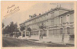 """NARBONNE : """" Collège - Entrée Principale - Edition Janson """" - Circulé ARGELIERS - Narbonne"""