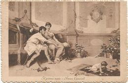 W2864 Amos Cassioli - Il Primo Nato - Dipinto Paint Peinture / Viaggiata 1916 - Paintings