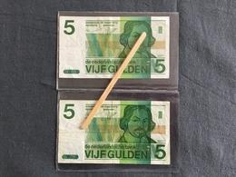Pays-Bas Lot 5 GULDEN 1973 - Munten & Bankbiljetten