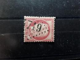 Ceres No 57, 80 C Rose Obl GC 4719 Bureau Supplémentaire De VELARS  EN OUCHE , Cote D' Or , TB - 1871-1875 Ceres