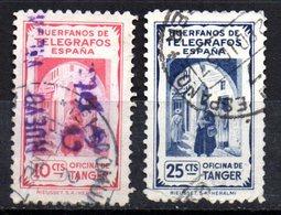 2 Sellos De Huerfanos De Telegrafos Uno Con Sobrecarga 2 Pts - Spanish Morocco