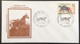 D414 Hippodrome Du Petit Saint Jean Grand Prix Amiens 5/7/1980 Attelage De Trot 1172 Tapisserie Reine Mathilde Bayeux - Postmark Collection (Covers)