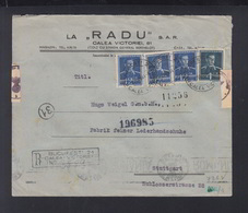 Romania Registered Cover 1944 Bucurest Calea Victoriei Censor - 1918-1948 Ferdinand, Charles II & Michael
